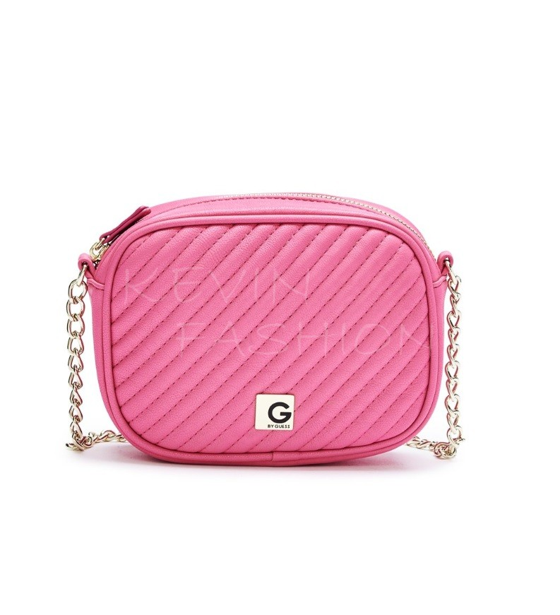 Guess kabelka Marzia Quilted Cross-Body pink