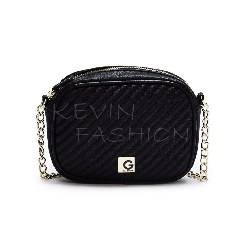 Guess kabelka Marzia Quilted Cross-Body black