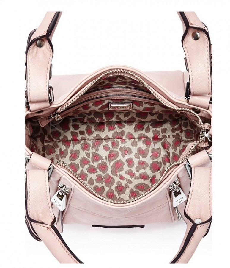 Guess kabelka Presley Small Zipper Satchel Light Rose  94fc23bdf22