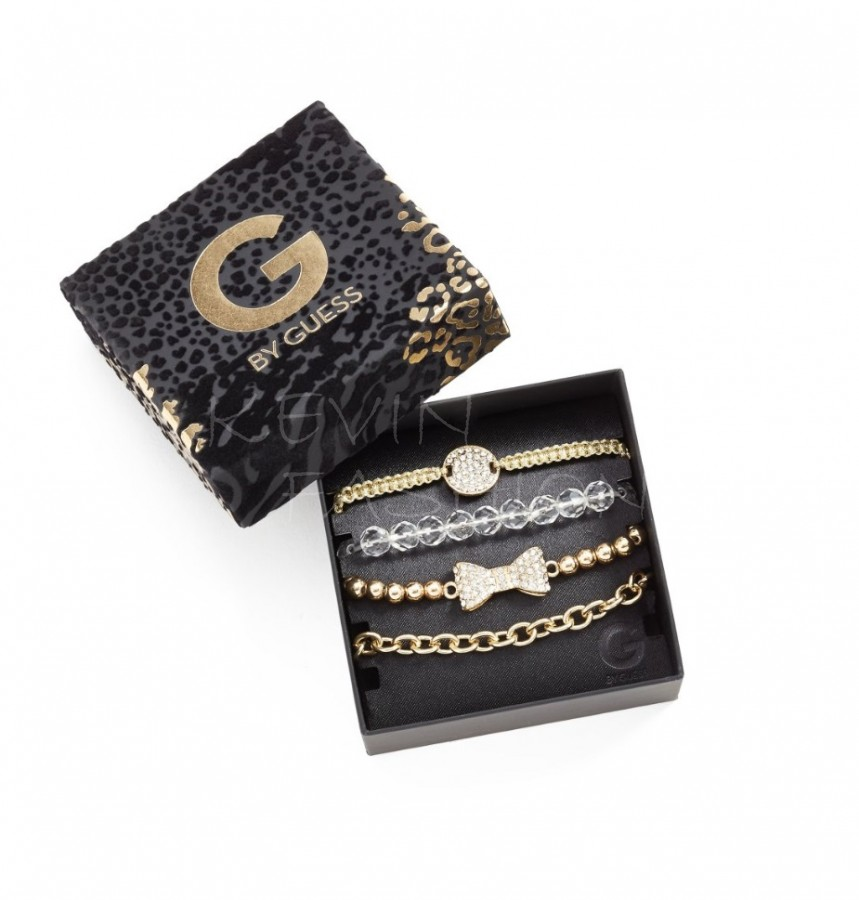 Guess náramky Gold-Tone Friendship Bracelet Set