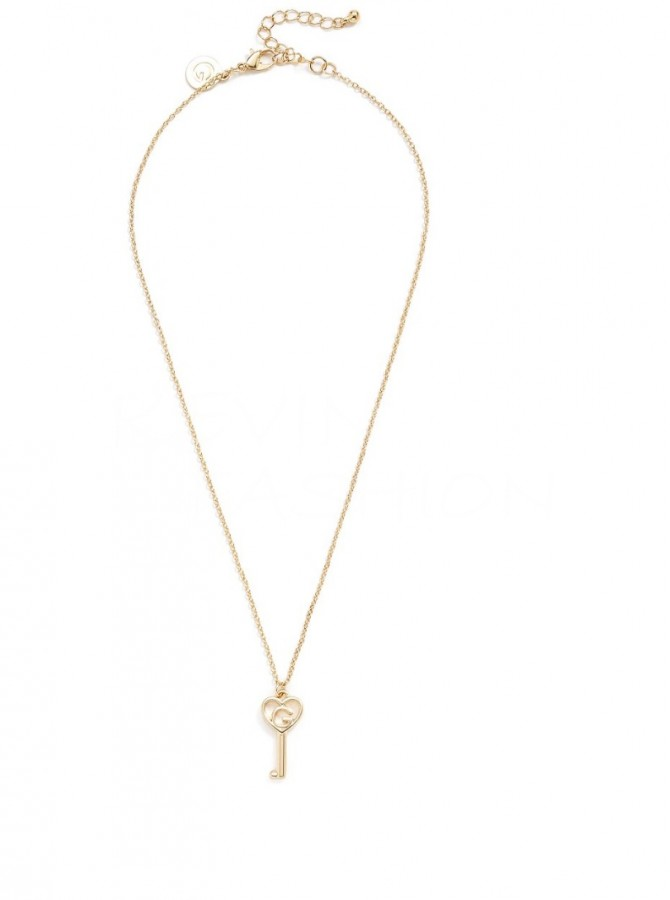 Guess řetízek Gold-Tone Key Charm Necklace